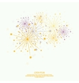 Abstract background with flashes of salute vector image vector image