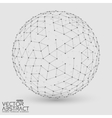 Abstract grayscale sphere Futuristic vector image vector image