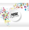 abstract music festival advertising poster vector image vector image