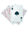 ace spade or pike playing cards vector image