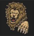 angry lion attack vector image vector image