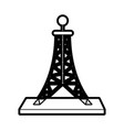 antenna telecommunication icon image vector image vector image