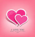 Beautiful pink heart paper vector image vector image