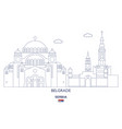 belgrade linear city skyline vector image vector image