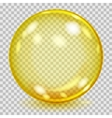 Big yellow transparent glass sphere vector image vector image