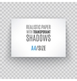 Blank sheet of paper with page curl and shadow vector image vector image
