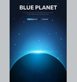 blue planet earth astronomical galaxy space vector image vector image