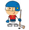Boy Playing Hockey Goalie vector image vector image