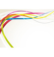 Bright abstract rainbow swoosh lines background vector image vector image