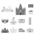 building repair monochrome icons in set collection vector image vector image