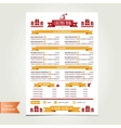cafe menu christmas template design vector image vector image