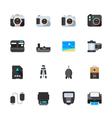 Camera and Camera Accessories Icons vector image vector image