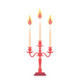 candelabra candlestick chandelier candle vector image vector image