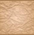 cardboard wrinkles texture vector image vector image