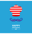 Chef hat and mustache Independence day vector image vector image