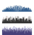 city skylinecity building silhouette cityscape vector image
