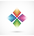 Color pattern figure vector image vector image