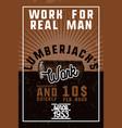 color vintage lumberjack banner vector image vector image