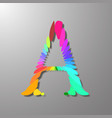 colorful image of the letter a vector image