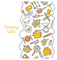 cooking flat vertical seamless pattern vector image vector image