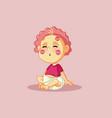 cute funny bareceiving kisses cartoon vector image vector image