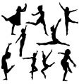 Dancer silhouettes vector | Price: 1 Credit (USD $1)