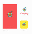 dart game company logo app icon and splash page vector image vector image