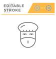 doctor editable stroke line icon vector image vector image