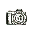 Doodle photo camera hand draw vector image vector image