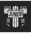 Emblem racing junior in retro style vector image vector image
