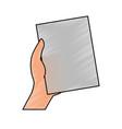 empty document isolated vector image