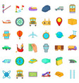 freight delivery icons set cartoon style vector image vector image