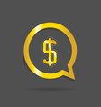gold dollar sign vector image vector image
