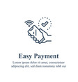 hand holding smartphone mobile electronic payment vector image