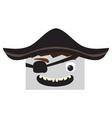 happy halloween cartoon pirate avatar vector image vector image