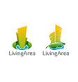 healthy living area logos symbols vector image vector image