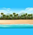 horizontal tropical landscape coast beautiful vector image vector image