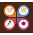 Infographic icon Nutrition and Organic food vector image vector image