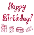 inscription happy birthday vector image vector image