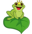 king of frog vector image