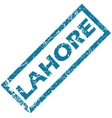 Lahore rubber stamp vector image