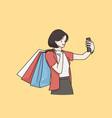 making selfie online communication concept vector image vector image