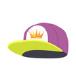 male colourful rap cap isolated vector image
