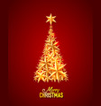 merry christmas white background vector image vector image