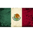 Mexican flag Grunge background vector image vector image