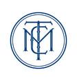 minimalist hipster monogram logo vector image vector image