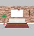 mockup living bedroom interior in hipster style vector image vector image