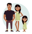 Mom and dad with daughter vector image vector image