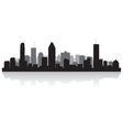 Montreal Canada city skyline silhouette vector image vector image