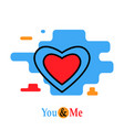 motivation lettering you and me on a white vector image vector image